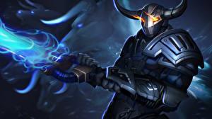 Fotos Sven DOTA 2 Rüstung Helm Schwert Spiele Fantasy