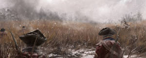 Images Assassin's Creed 3 Soldiers Grass Two Winter hat vdeo game