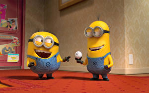 Picture Despicable Me 2 Minions Two Cartoons 3D_Graphics