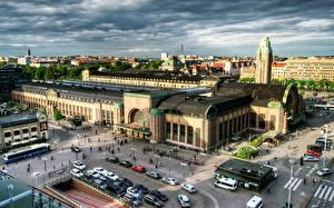 Fotos Gebäude Finnland Helsinki Von oben HDRI