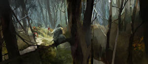 Picture Assassin's Creed 3 Soldiers Trees