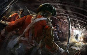 Wallpapers Assassin's Creed 3 Soldiers Painting Art Sabre