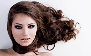 Hintergrundbilder Haar Braune Haare Schminke Model Gesicht Mädchens