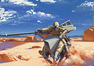 Bilder Technik Fantasy Kanone Soldaten Fantasy
