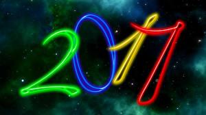 Fotos Neujahr Himmel Stern 2017