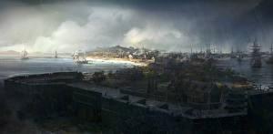 Photo Assassin's Creed 3 Building Ships Sailing Boston