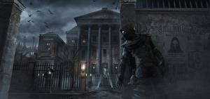 Wallpapers Thief Masks Man Houses Hooded Night Garrett Games