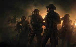 Images Warriors Man Assault rifle Hat Wasteland 2 Games