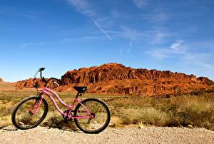 Hintergrundbilder Himmel Vereinigte Staaten Fahrrad Nevada Valley of Fire state park Natur