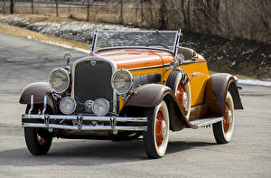 Hintergrundbilder Retro Cabriolet Gelb Metallisch Roadster 1931 Hudson Greater Eight Sport Roadster Autos