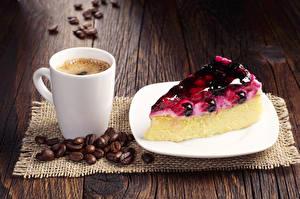 Bilder Kaffee Törtchen Obstkuchen Bretter Tasse Getreide Teller Stück Lebensmittel