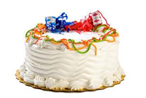 Bilder Süßigkeiten Torte Großansicht Weißer hintergrund Lebensmittel