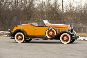 Hintergrundbilder Retro Cabrio Gelb Metallisch Seitlich Roadster 1931 Hudson Greater Eight Sport Roadster Autos