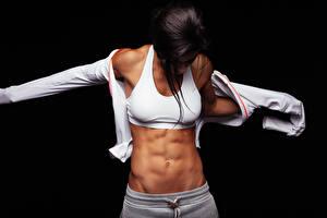 Hintergrundbilder Fitness Bauch Mädchens Sport