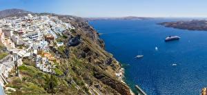 Fotos Griechenland Meer Haus Küste Santorin Felsen Städte