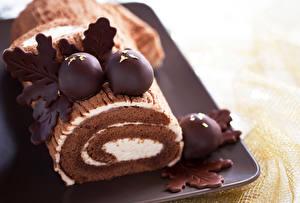 Bilder Roulade Süßware Schokolade