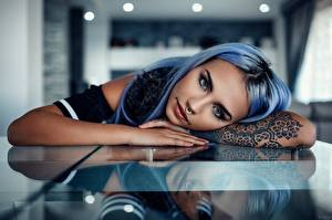 Wallpapers Tattoos Body piercing Glance Reflection Hands Alessandro Di Cicco Girls