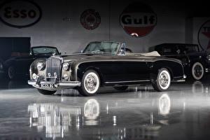 Hintergrundbilder Bentley Retro Schwarz Cabrio 1955-58 S1 Continental Drophead Coupe by Park Ward automobil