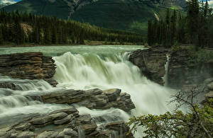 Bilder Kanada Park Wasserfall Jasper park Athabasca Falls