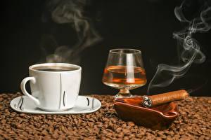 Hintergrundbilder Kaffee Schwarzer Hintergrund Tasse Zigarre Getreide Rauch Dampf Weinglas Lebensmittel