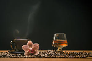 Images Coffee Orchid Whisky Colored background Cup Grain Shot glass Vapor