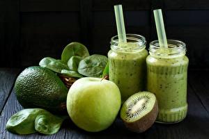 Photo Drinks Fruit Kiwi Kiwifruit Smoothie Jar Food