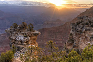 Fotos Grand Canyon Park USA Park Sonnenaufgänge und Sonnenuntergänge Felsen Canyon