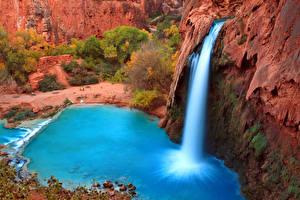 Hintergrundbilder Grand Canyon Park Vereinigte Staaten Park Wasserfall Canyon