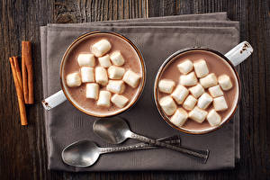 Picture Hot chocolate drink Marshmallow Spoon Cup