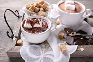 Pictures Cocoa Zefir Chocolate Marshmallow Cup Sugar