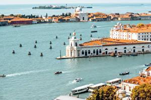 Hintergrundbilder Italien Haus Schiffsanleger Meer Motorboot Venedig Bucht Städte
