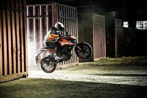 Image KTM Motorcycles Motorcyclist Jump Helmet 2017 125 Duke Motorcycles