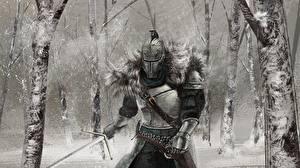 Bilder Ritter Dark Souls Helm Rüstung Schwert 2 Spiele Fantasy