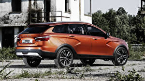 Hintergrundbilder Lada Russische Autos Orange Cross Concept