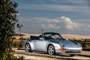 Photo Porsche Silver color Cabriolet 1994-98 911 Carrera 3.6 Cabriolet auto