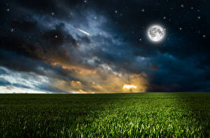 Hintergrundbilder Landschaftsfotografie Acker Stern Himmel Nacht Mond Wolke