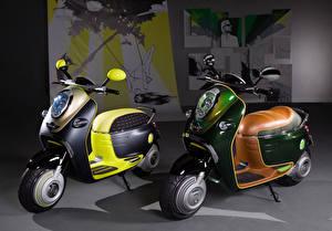 Fonds d'écran Scooter Deux 2010 MINI Scooter E Concept motos