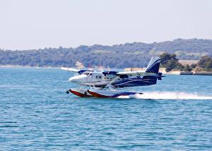 Hintergrundbilder Flugzeuge Flusse Wasser Start Luftfahrt Wasserflugzeug