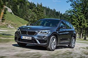 Hintergrundbilder BMW Fahren Graue Metallisch 2015  xDrive Sport Line F48 auto