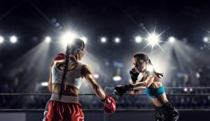 Fonds d'écran Boxe anglaise 2 Rayons de lumière Sport Filles