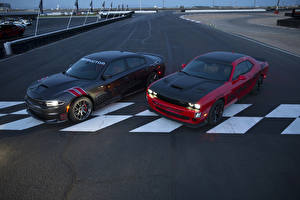 Wallpapers Dodge Tuning Two Cars