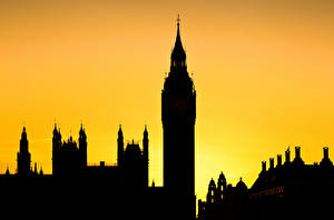 Fotos England Silhouette Big Ben Turm London