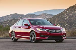 Pictures Honda Red Metallic 2015 Accord US-spec Sport automobile