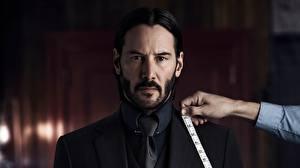 Pictures Keanu Reeves Man John Wick: Chapter 2 Bearded Beautiful film Celebrities