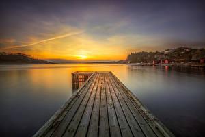 Hintergrundbilder Norwegen Flusse Lofoten Sonnenaufgänge und Sonnenuntergänge Seebrücke Landschaftsfotografie Rogaland Natur