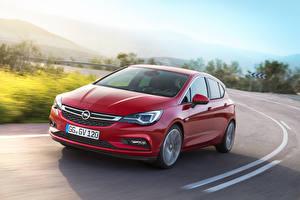 Bilder Opel Rot Fahren Astra 2015