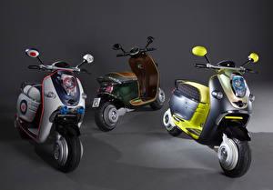 Fonds d'écran Scooter Trois 3 2010 MINI Scooter E Concept moto