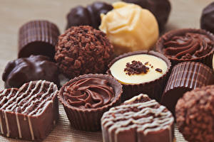 Fotos Süßware Bonbon Schokolade Großansicht Lebensmittel