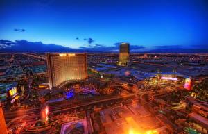 Bilder USA Haus Nacht Las Vegas Von oben Nevada