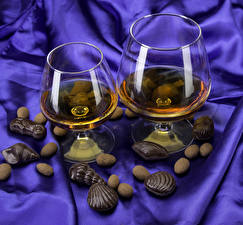 Wallpaper Whiskey Shells Chocolate Candy Stemware 2